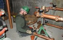 Commercial plumber repipes copper water lines in a hotel in Glendale